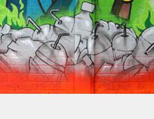 Plastic pollution murals